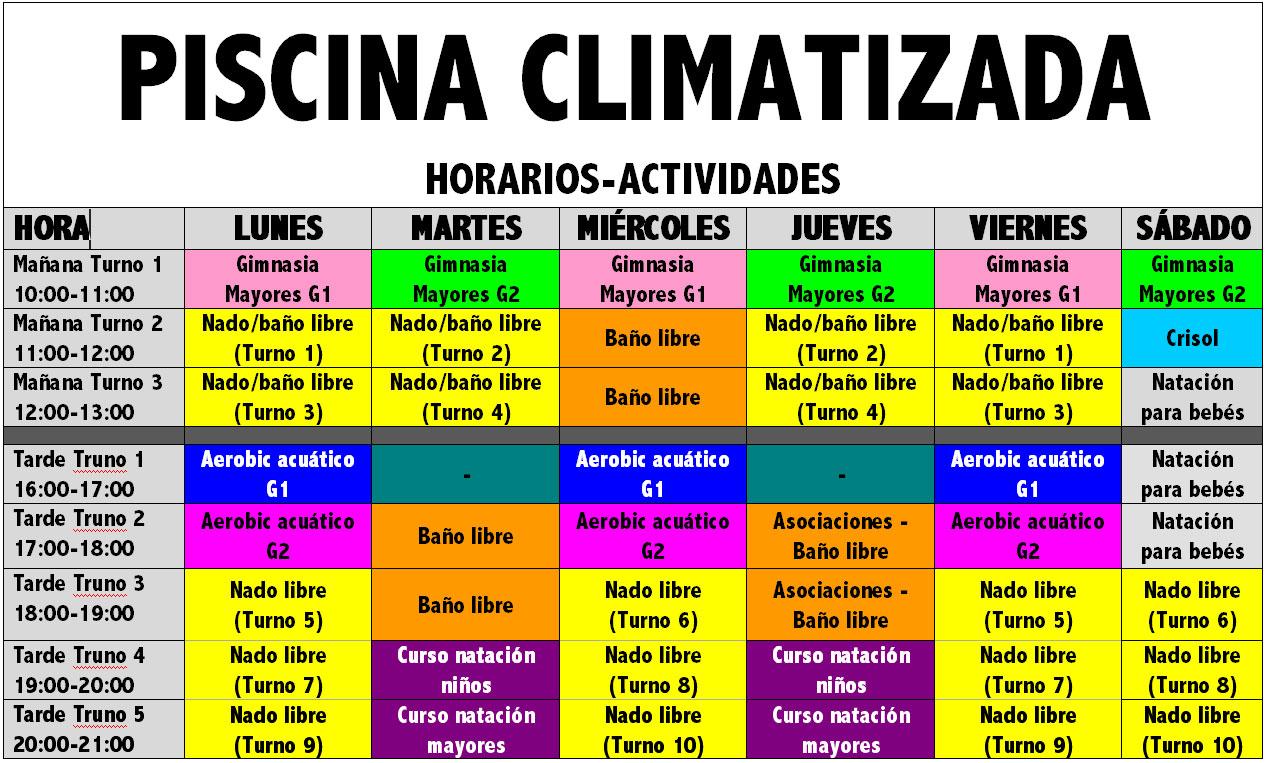 Ap ntate a los nuevos turnos de la piscina climatizada for Horario piscina alaquas